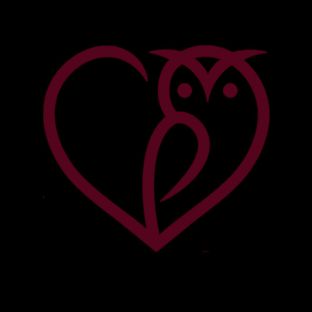 Owl in a heart