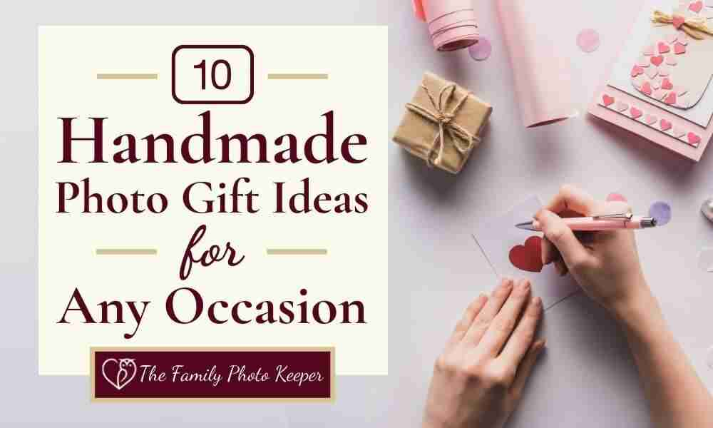 woman's hands writing gift tag for photo presents