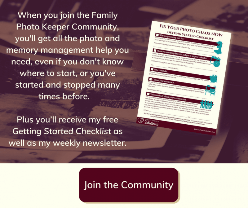 Join the Family Photo Keeper Community Button