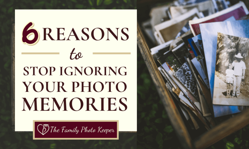 box of loose photos