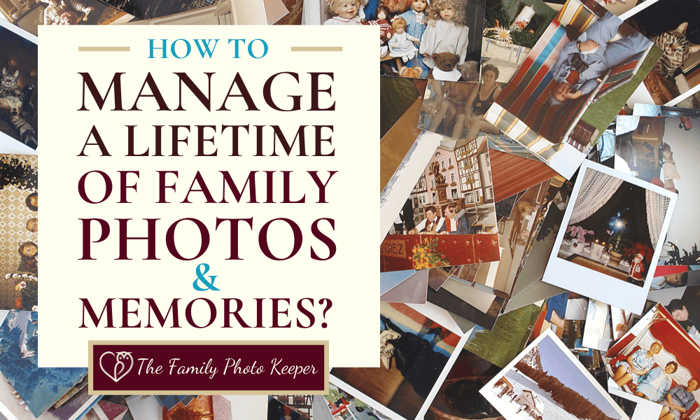 how to organize 30 years of photos blog post header